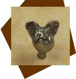 Anne at Home Pig Head Cabinet Knob