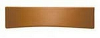 Hafele Cabinet Hardware, Handle, zinc, leather, toffee, center to center 96mm