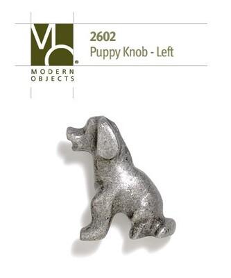 Modern Objects Designer Hardware Puppy Cabinet Knob Facing Left