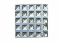 """ZivaWorks Decorative Hardware Waffle Cabinet Knob 1 9/16"""" x 1 9/16"""" *PLATINUM"""