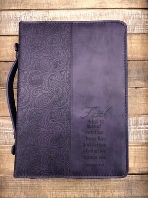 Faith Large Purple Bible Cover