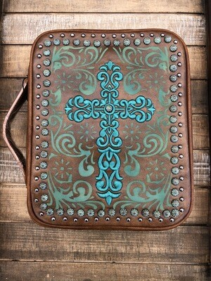 Brown Leather Bible Cover Large
