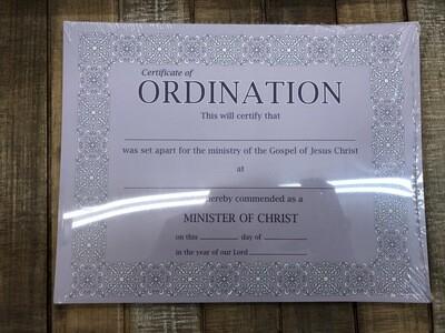 Certification of Ordination 6 pk