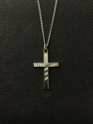 Men's Flag Cross SS Necklace