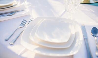 Plate- White Square Salad
