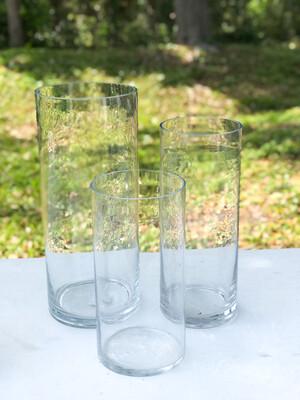 "Glass Cylinder Vase 14"" Tall"