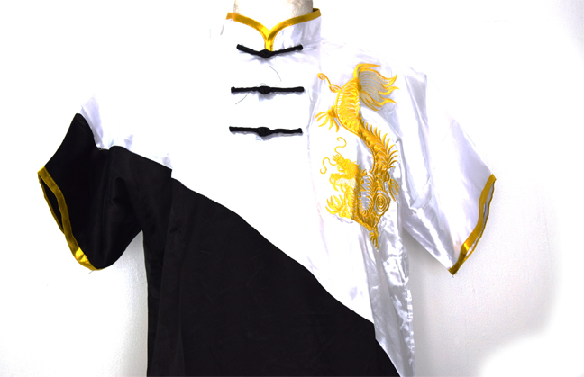 Uniforme de Wushu Chang Chuan Negro/Blanco