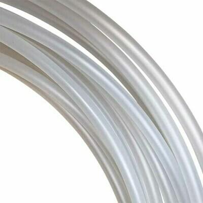 19mm Natural (Clear) Polypro Hula Hoop Tube, 25m