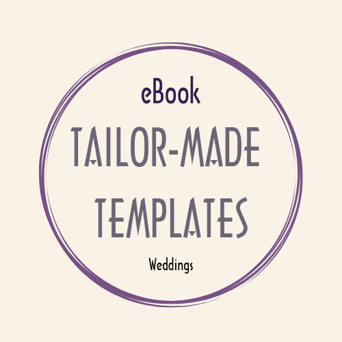 eBook WORD doc TAILOR MADE TEMPLATES weddings
