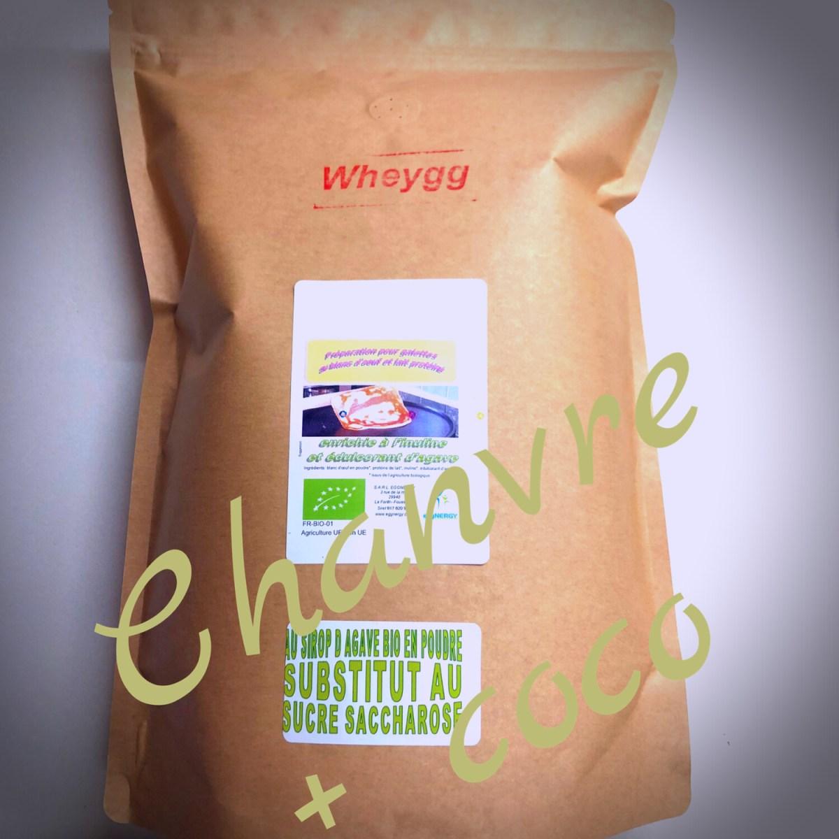 Chanvre en wheygg (avec lait et blanc d'œuf): 1 Kg