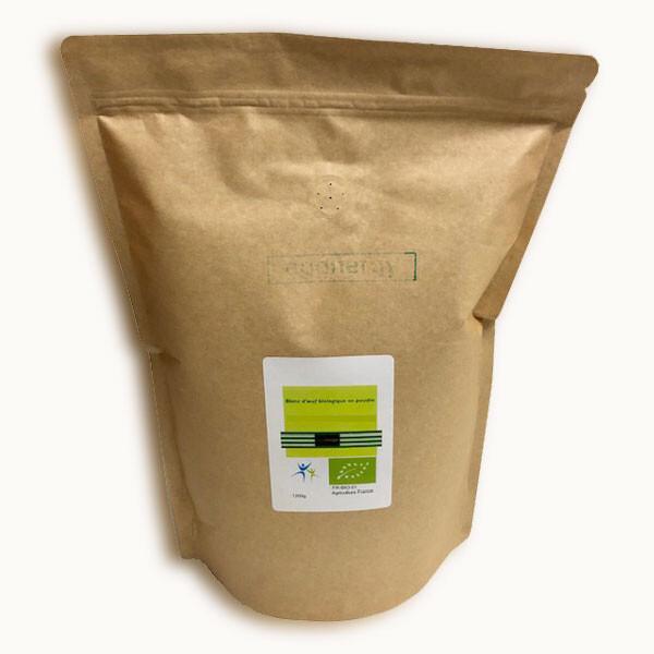 Blanc d'œuf bio en poudre 1200 g (82% de protéines sans sucre)