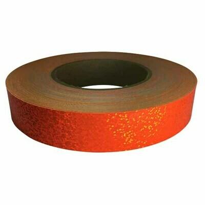 Holographic Sequin Tape, Fluorescent Orange