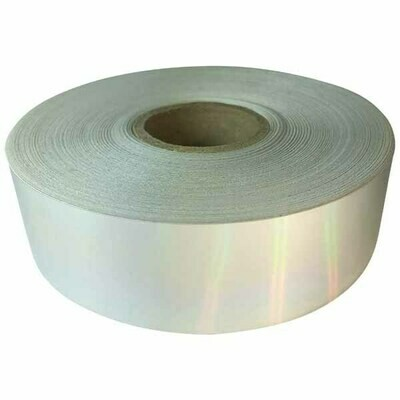 Economy Rainbow Holographic Silver - Paper Backed