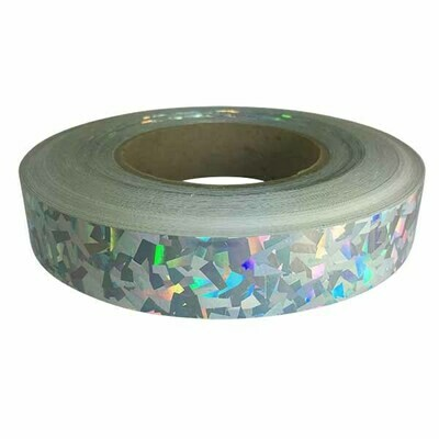 Holographic Tape, Silver Crystal Confetti