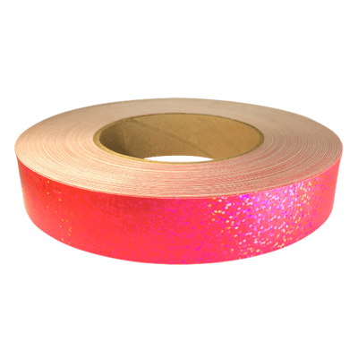 Holographic Sequin Tape, Fluorescent Pink