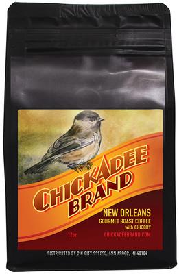 Chickadee Brand Organic Coffee with Chicory