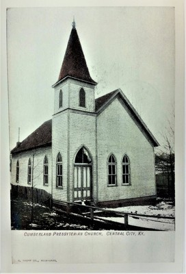 Cumberland Presbyterian Church in Central City Kentucky Post Card