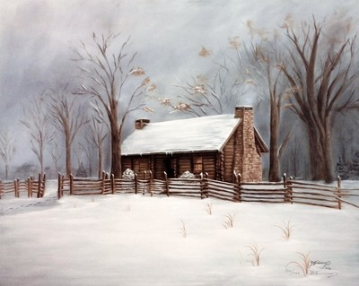 Then Came Morning: McAdow House Print by B. Tomlinson