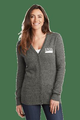 Port Authority ® Ladies Marled Cardigan Sweater