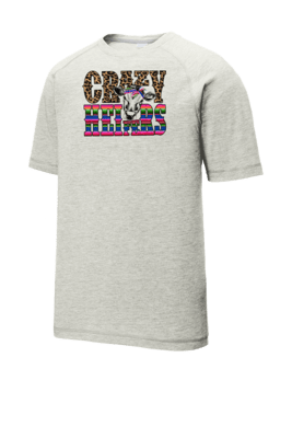 Crazy Heifer Tri-Blend Wicking Raglan Tee
