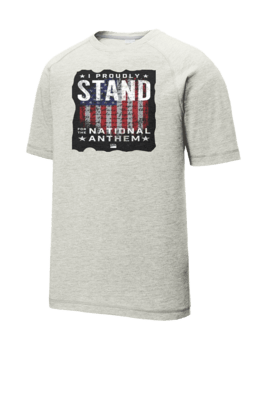 I Stand for the National Anthem Tri-Blend Wicking Raglan Tee