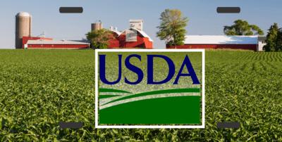 License Plate Farm Scene with USDA Logo