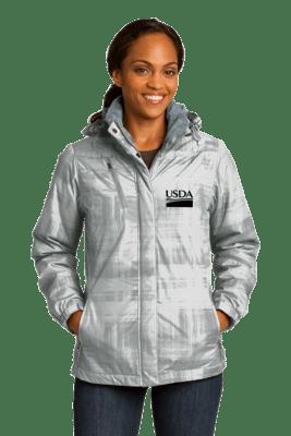 Port Authority® Ladies Brushstroke Print Insulated Jacket