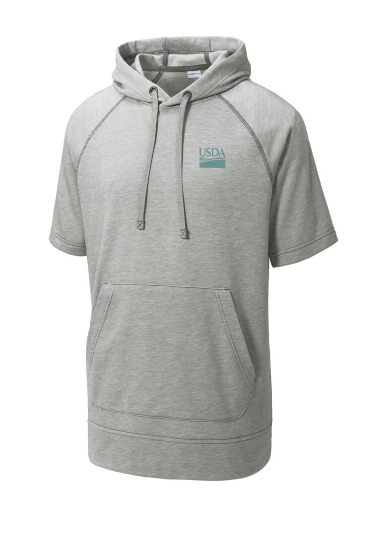 Unisex Sport-Tek ® PosiCharge  Tri-Blend Wicking Fleece Short Sleeve Hooded Pullover