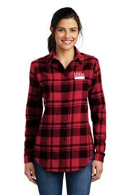 Ladies Plaid Flannel Tunic