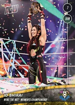 Io Shirai NXT TOPPS NOW 2020 Card