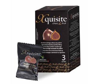 Bombones de Higos Secos - Xquisite Choc&Fruit -, recubiertos de Chocolate Negro, 3 Unid, 60 g Xquisite - Gourmet by Beites