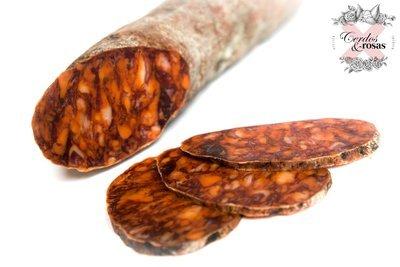 Cerdos y Rosas: Chorizo Ibérico de Bellota. Peso aproximado 1,2kg