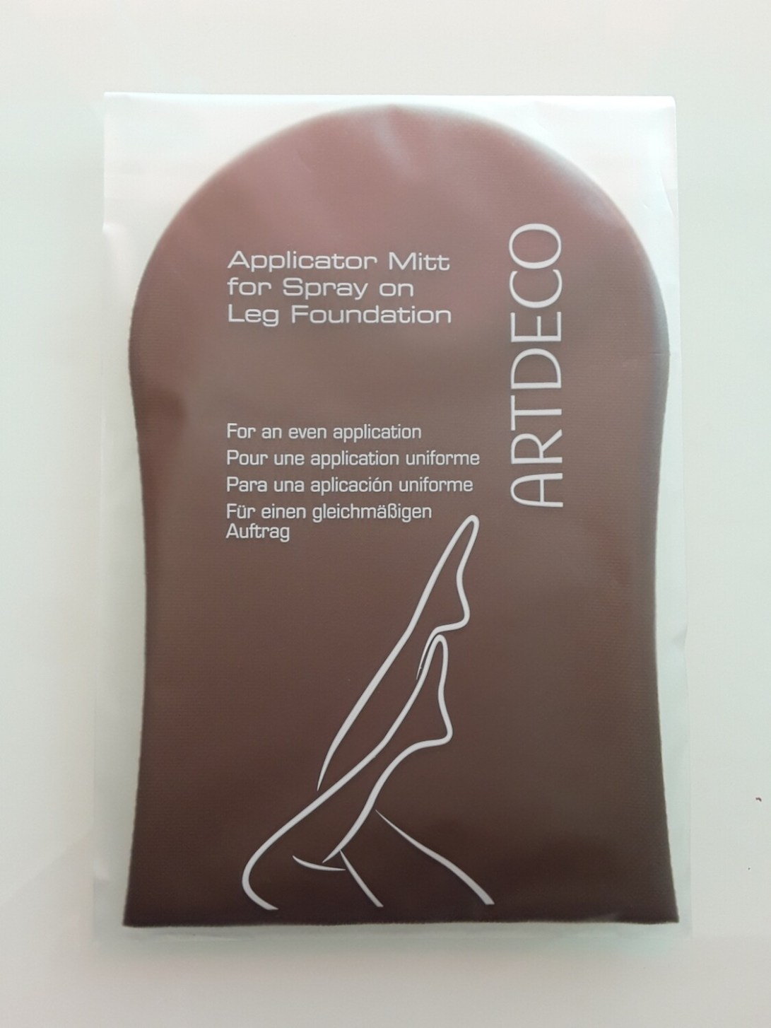 Gant applicateur pour spray on leg foundation