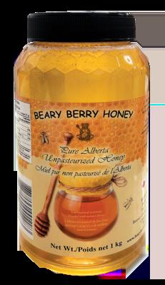 1 kg Pure Alberta Liquid Honey - Plain