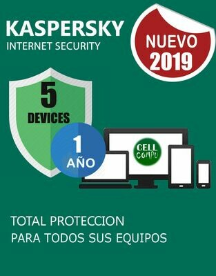 Kaspersky Internet Security 5pc 1año.