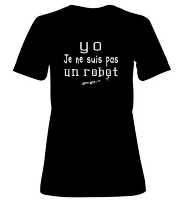 T-shirt femme modèle robot (taille M) *PRIX RÉDUIT!