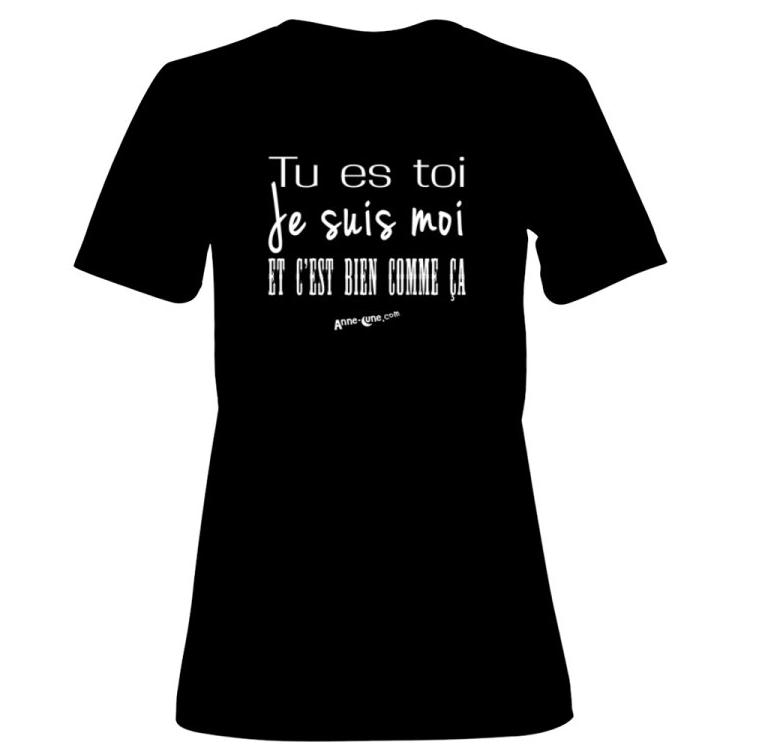 T-shirt femme modèle toi-moi (taille L) *PRIX RÉDUIT!