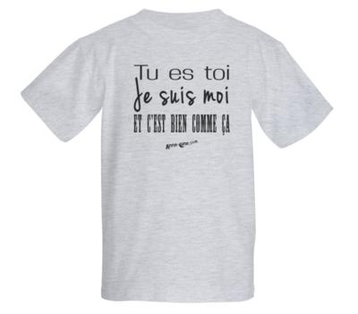 T-shirt enfant modèle toi-moi (taille XS) *PRIX RÉDUIT!