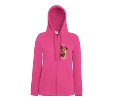 Little Belle Light Weight Hoodie 'See with your Heart' - with zipper