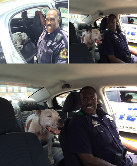 Officer McAfee and Lovey.