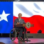 Governor Gregg Abbott giving his keynote address.