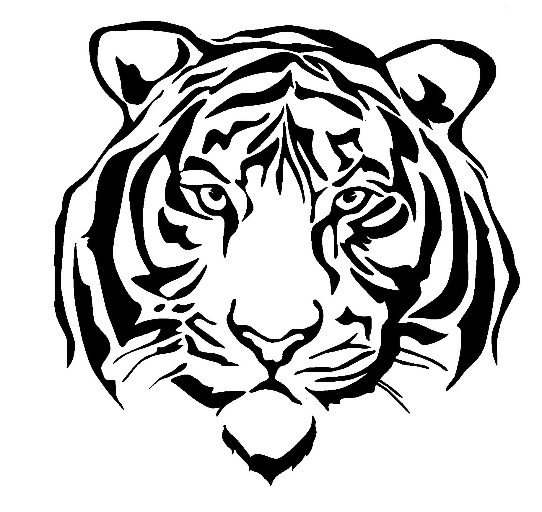 6 Tiger Face Decal On Storenvy