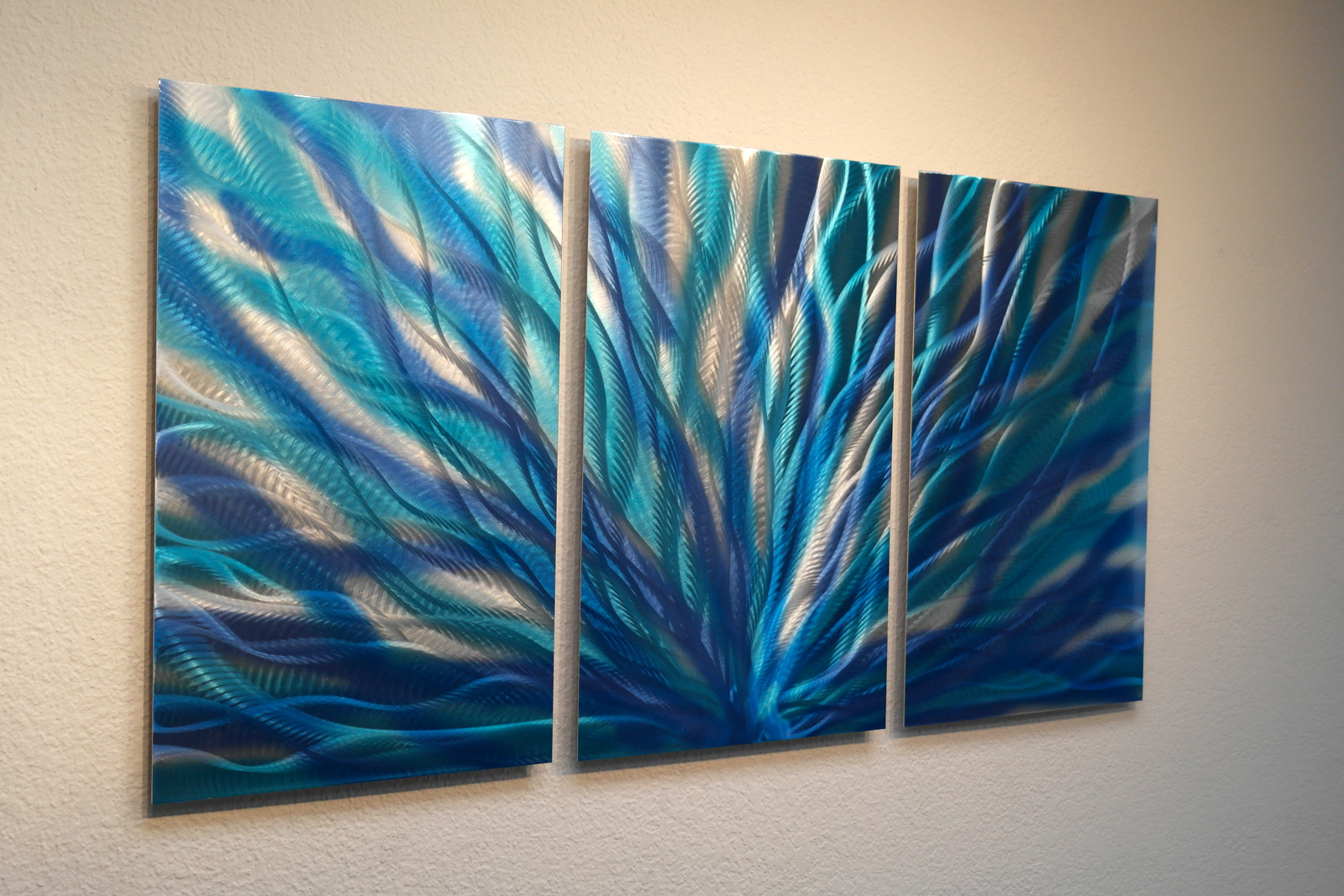 Radiance Blue- Metal Wall Art Abstract Contemporary Modern