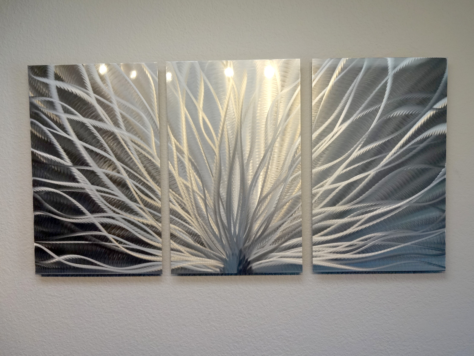 3 Panel Metal Wall Art Abstract Contemporary