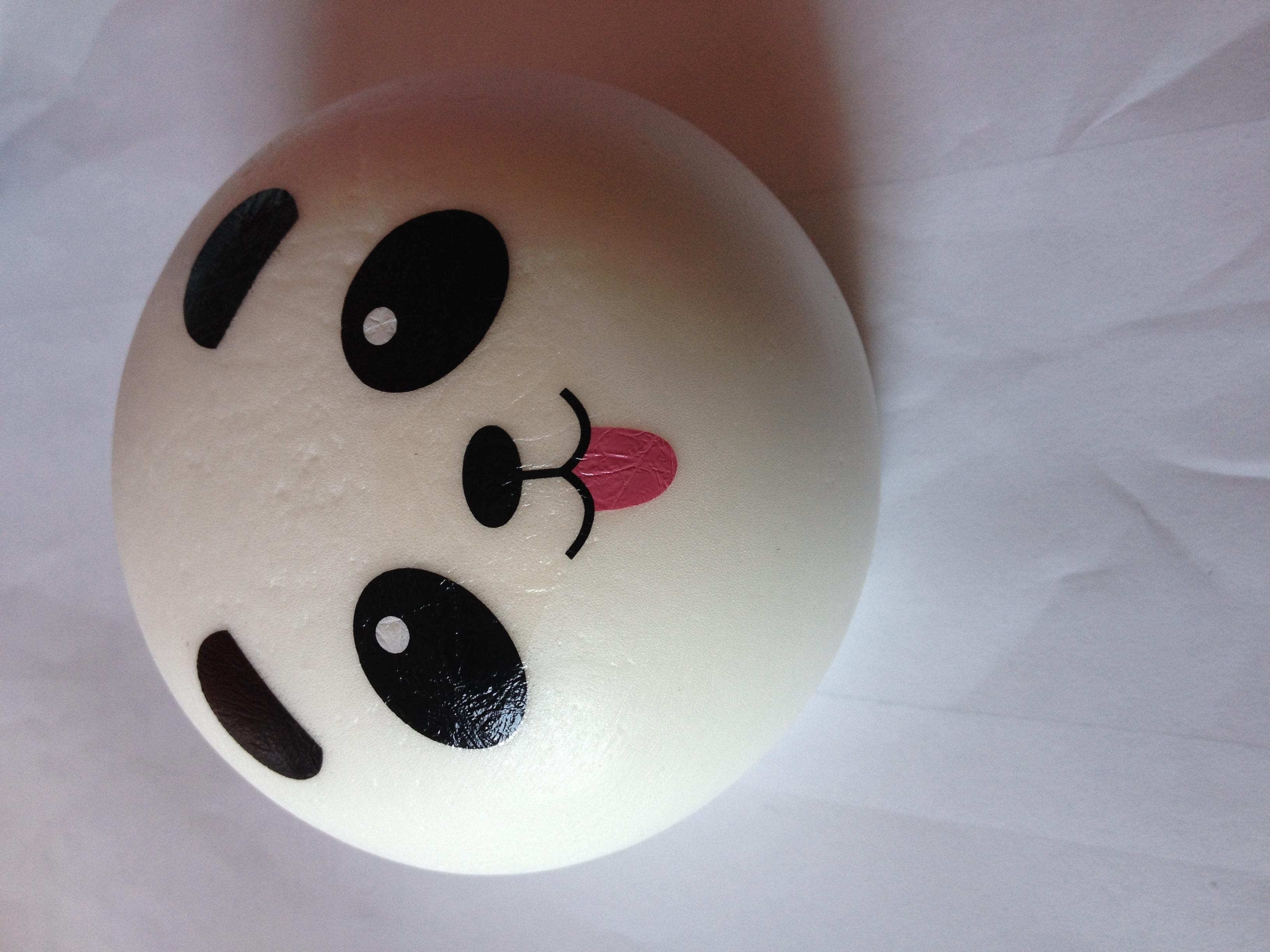 Jumbo Panda Bun Squishy With Tongue Tiki Tembo Online