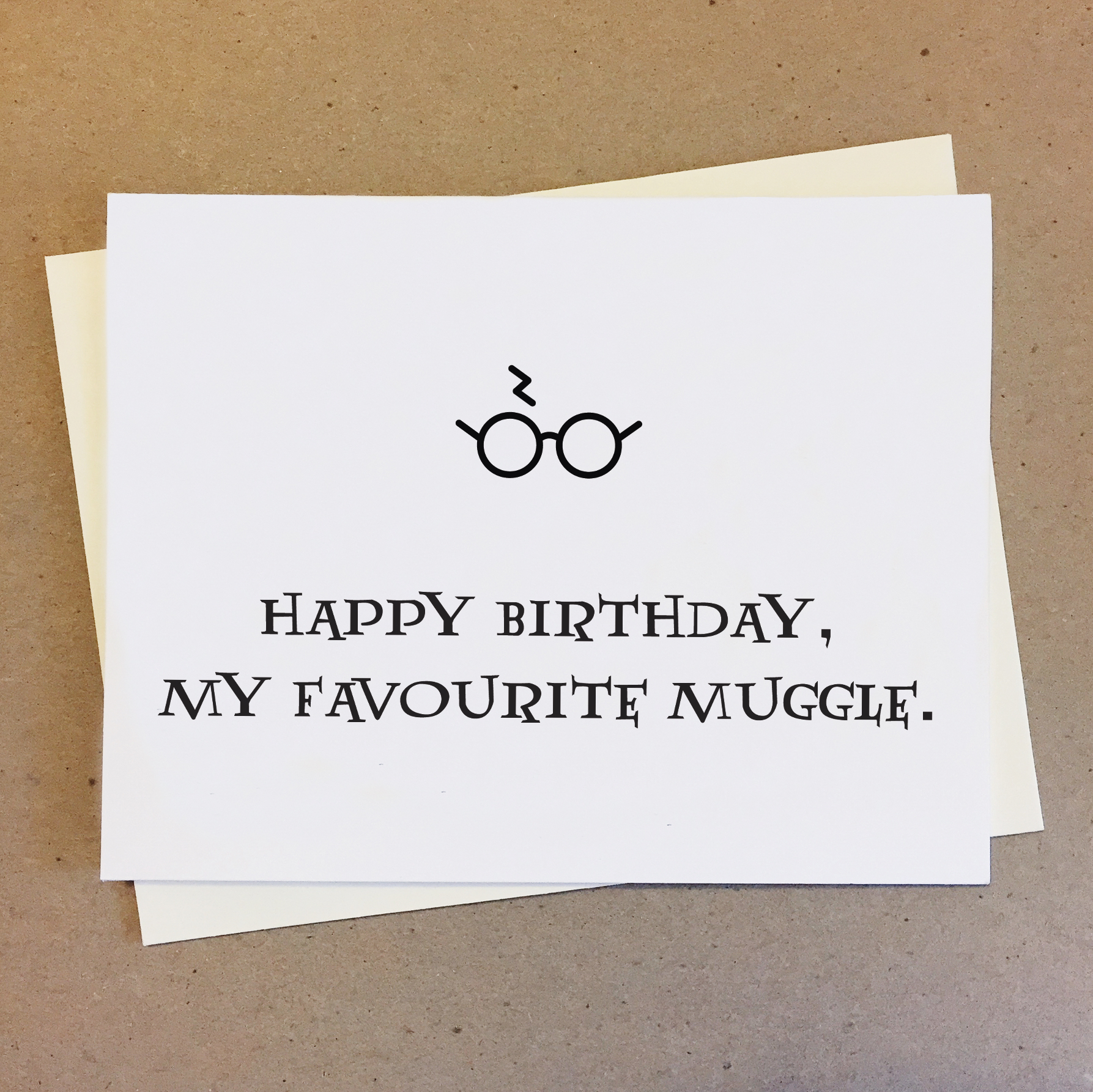 Happy Birthday My Favourite Muggle Harry Potter Card On