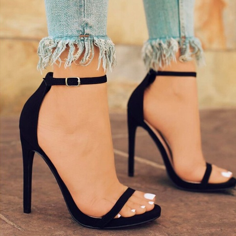 Women's Sexy Simple High Heels Fashion Solid Color Summer ...