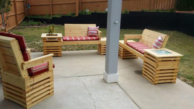 4 piece handmade outdoor furniture patio set on storenvy
