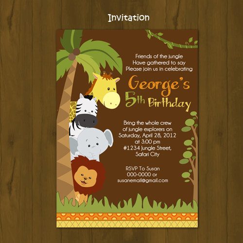safari birthday invitation sold by