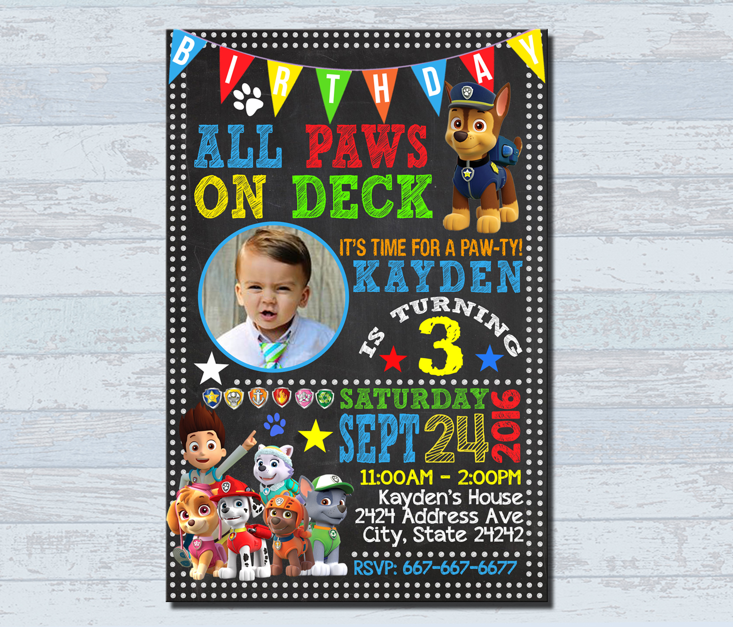 birthday invitations personalized